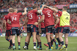 October 20, 2018 - Limerick, Ireland - Munster players celebrate Rhys Marshall scoring during the Heineken Champions Cup match between Munster Rugby and Gloucester Rugby at Thomond Park in Limerick, Ireland on October 20, 2018  (Credit Image: © Andrew Surma/NurPhoto via ZUMA Press)