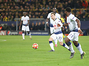 Christian Eriksen of Tottenham Hotspur with the ball during  the Champions League round of 16, leg 2 of 2 match between Borussia Dortmund and Tottenham Hotspur at Signal Iduna Park, Dortmund, Germany on 5 March 2019.