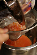 Preparing tomato juice