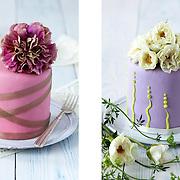 Floral-topped mini cakes, Olofson Design