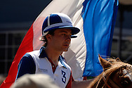 World horseball championship, La Rural Buenos Aires, Argentina 2006.Members of the france national team at the opening ceremony