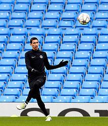 Angel di Maria of PSG trains  - Mandatory byline: Matt McNulty/JMP - 07966386802 - 11/04/2016 - FOOTBALL - Manchester City v PSG - Etihad Stadium -Manchester,England - UEFA Champions League