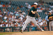 May 31, 2010: Oakland Athletics' Jerry Blevins (13) during the MLB baseball game between the Oakland Athletics and Detroit Tigers at  Comerica Park in Detroit, Michigan. Oakland defeated Detroit 4-1.
