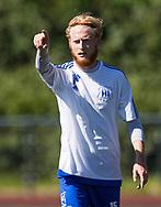 FODBOLD: Lasse Juul Jensen (Herlev) under kampen i Danmarksserien mellem Herlev Fodbold og Jægersborg Boldklub den 17. juni 2017 i Herlev Park. Foto: Claus Birch