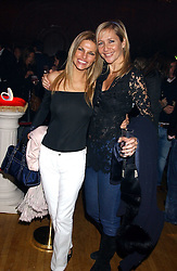 Left to right, ANDREA HISLOP and TANIA BRYER at the Myla Debutantes Coming-Out show held at The Porchester Hall, Porchester Road, London on 31st January 2006.<br /><br />NON EXCLUSIVE - WORLD RIGHTS