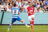 ZWOLLE - 18-09-2016, PEC Zwolle - AZ, MAC3park Stadion, basisdebuut voor AZ speler Iliass Bel Hassani (r), PEC Zwolle speler Bram van Polen