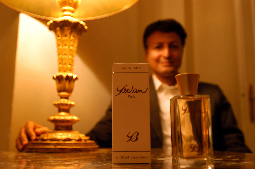 "Yeslam Bin Laden in Paris to prepare the launch of his perfume ""Yeslam."".Paris, France. 22/10/2004.Photo © J.B. Russell"