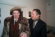 GAZ MAYALL; NICK ASHLEY, The Way We Wore.- Photographs of parties in the 70's by Nick Ashley. Sladmore Contemporary. Bruton Place. London. 13 January 2010. *** Local Caption *** -DO NOT ARCHIVE-© Copyright Photograph by Dafydd Jones. 248 Clapham Rd. London SW9 0PZ. Tel 0207 820 0771. www.dafjones.com.<br /> GAZ MAYALL; NICK ASHLEY, The Way We Wore.- Photographs of parties in the 70's by Nick Ashley. Sladmore Contemporary. Bruton Place. London. 13 January 2010.