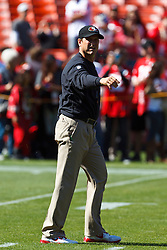 SAN FRANCISCO, CA - OCTOBER 14: Head coach Jim Harbaugh of the San Francisco 49ers on the field before the game against the New York Giants at Candlestick Park on October 14, 2012 in San Francisco, California. The New York Giants defeated the San Francisco 49ers 26-3. Photo by Jason O. Watson/Getty Images) *** Local Caption *** Jim Harbaugh