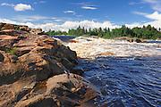 Rivière Ashuapmushuan at Chutes à Michel<br /> Saint-Félicien<br /> Quebec<br /> Canada