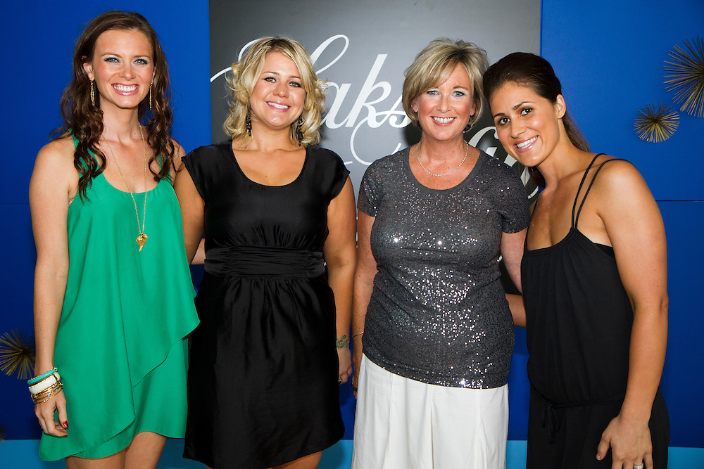 TP_340310_FREE_RAYSRUNWAY_1..Caption:(Wednesday 06/29/2011 Tampa)Nicole Johnson (wife of Rays player Elliot Johnson), Erin Corona, Kim Biehl of Saks Fifth Ave. and Ryane Shields (wife of Rays player James Shields)..Summary:Tampa Bay Rays and their wives walk the runway escorting children with life-threatening illnesses during the annual Rays on the Runway fashion event at the Tampa Museum of Art...Photo by James Branaman