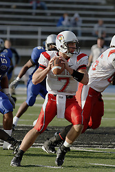 25 November 2006: Luke Drone pumps to pass.&#xD;The Redbirds romped the Panthers by a score of 24-13.&#xD;This game was a 1st round NCAA Division 1 Playoff held at O'Brien Stadium on the campus of Eastern Illinois University in Charleston Illinois.<br />