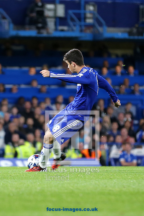 Oscar of Chelsea scores the winning goal in a 2-1 victory in the Capital One Cup match against Bolton Wanderers at Stamford Bridge, London<br /> Picture by Richard Calver/Focus Images Ltd +447792 981244<br /> 24/09/2014