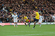 Oxford United midfielder Liam Sercombe scores from the spot during the The FA Cup third round match between Oxford United and Swansea City at the Kassam Stadium, Oxford, England on 10 January 2016. Photo by Jemma Phillips.
