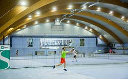 Aljaž Kos; Zavarovalnica Sava državno veteransko prvenstvo Slovenije v tenisu, on April 1, 2017 in Millenium center, BTC, Ljubljana, Slovenia. Photo by Vid Ponikvar / Sportida