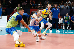 PARIS, FRANCE - SEPTEMBER 29: Jani Kovacic #13 of Slovenia receives the ball during the EuroVolley 2019 Final match between Serbia and Slovenia at AccorHotels Arena on September 29, 2019 in Paris, France.  Photo by Catherine Steenkeste / Sipa / Sportida