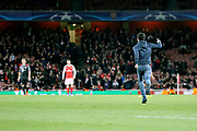 Pitch invader during the Champions League round of 16, game 2 match between Arsenal and Bayern Munich at the Emirates Stadium, London, England on 7 March 2017. Photo by Matthew Redman.
