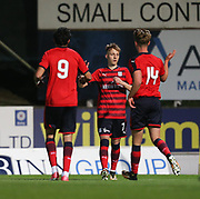 06/10/2017 - St Johnstone v Dundee - Dave Mackay testimonial at McDiarmid Park, Perth, Picture by David Young - Dundee's Jack Lambert goal celebaration