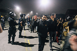 Protestors being released from a Kettle in Oakland, CA 2014