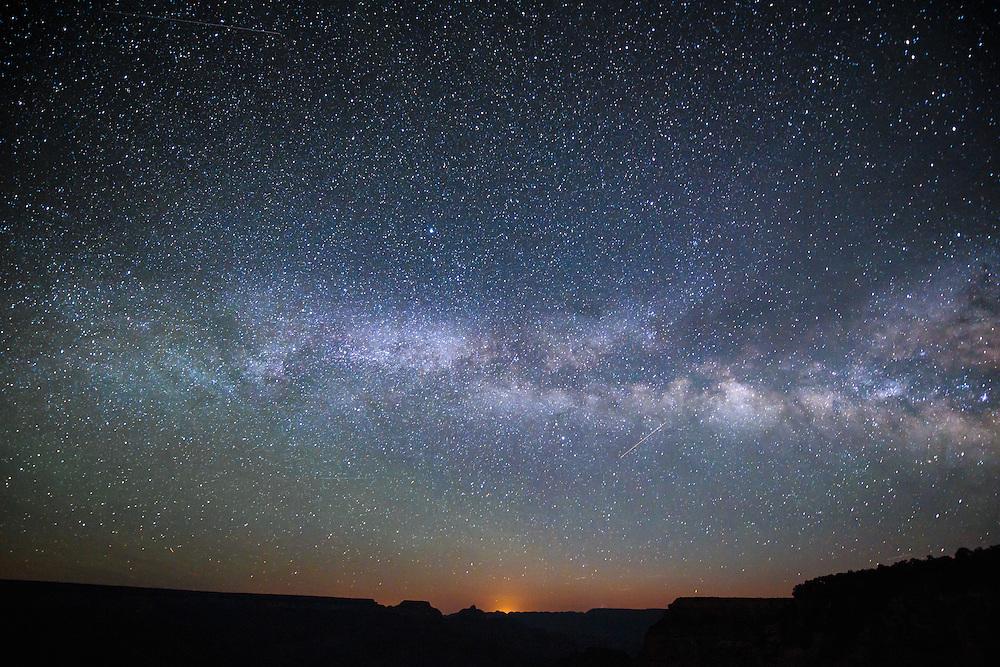 The Milky Way above the desert of Arizona.
