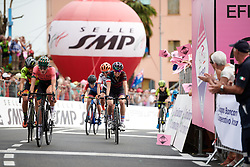 Kasia Niewiadoma (POL) approaches the finish line during Stage 7 of 2019 Giro Rosa Iccrea, a 128.3 km road race from Cornedo Vicentino to San Giorgio di Perlena, Italy on July 11, 2019. Photo by Sean Robinson/velofocus.com