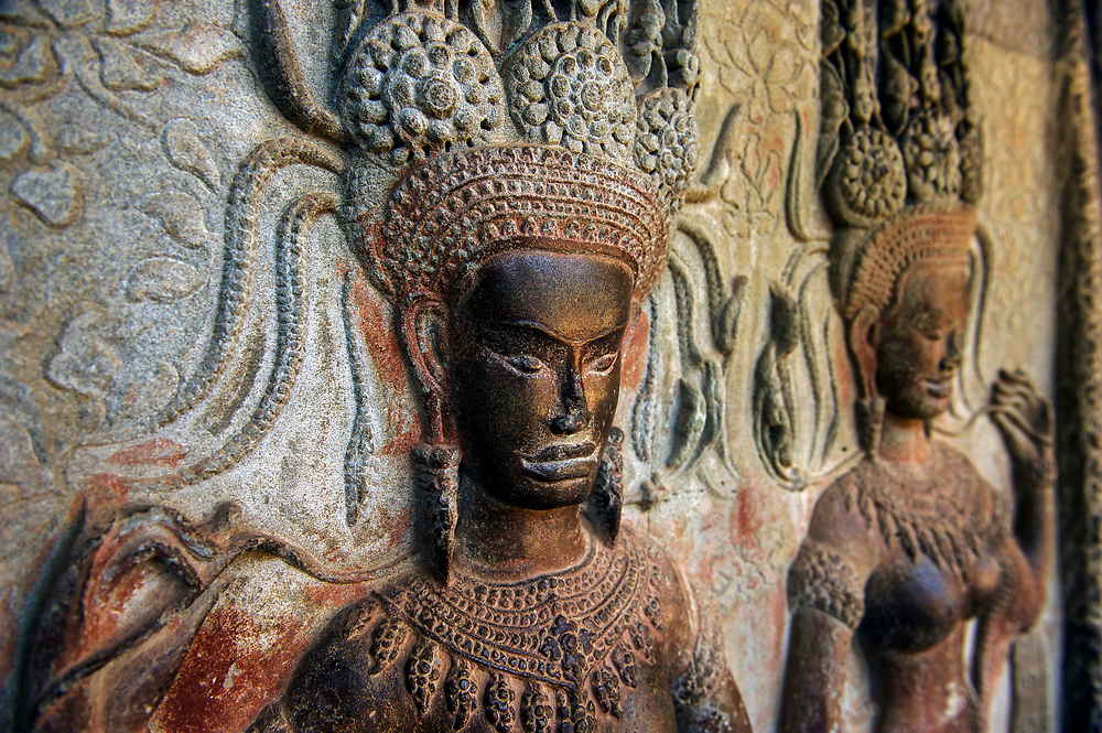 Apsaras, Angkor Wat temple, Siem Reap, Cambodia
