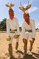 Mayo Indian men perform the Dance of the Deer, Tehueco (near El Fuerte), Mexico