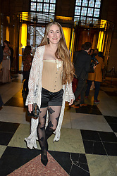 "VIOLET DELACHEROIS at a private view of Undressed: A Brief History Of Underwear"" at the V&A, London on 13th April 2016."