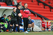 Doncaster Rovers Manager Darren Ferguson  during the Sky Bet League 1 match between Doncaster Rovers and Blackpool at the Keepmoat Stadium, Doncaster, England on 28 March 2016. Photo by Simon Davies.