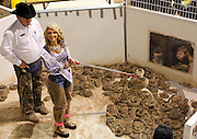 Miss Snake Charmer Kayla Chowning shows off a rattlesnake during the 54th annual Rattlesnake Roundup at Nolan County Coliseum in Sweetwater, Texas on Saturday, March 10, 2012. The Sweetwater Rattlesnake Roundup is the world's largest and takes place every second weekend in March.