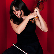 Portraits Naomi Sato, violinist for Rumbankete, a Los Angeles, California-based salsa orchestra, taken in Woodland Hills, Calif., on April 3, 2010, for the band's promotional use and album cover.  Photo by Jen Klewitz.  (Jen Klewitz © 2010)