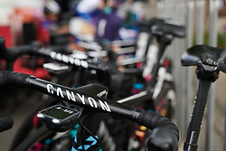 CANYON//SRAM Racing at Stage 1 of 2020 Santos Women's Tour Down Under, a 116.3 km road race from Hahndorf to Macclesfield, Australia on January 16, 2020. Photo by Sean Robinson/velofocus.com