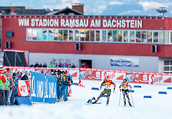 17.12.2016, Nordische Arena, Ramsau, AUT, FIS Weltcup Nordische Kombination, Langlauf, im Bild Eric Frenzel (GER), Mario Seidl (AUT) // Eric Frenzel of Germany, Mario Seidl of Austria during Cross Country Competition of FIS Nordic Combined World Cup, at the Nordic Arena in Ramsau, Austria on 2016/12/17. EXPA Pictures © 2016, PhotoCredit: EXPA/ JFK