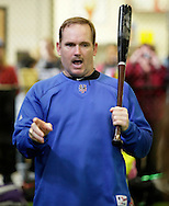 Chester, New York - Former New York Mets baseball all-star player Howard Johnson gives a cliinic on hitting at the first anniversary open house celebration at The Rock Sports Park on Nov. 12, 2011.