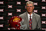 DALLAS, TX - JULY 22:  Iowa State head coach Paul Rhoads speaks during the Big 12 Media Day on July 22, 2014 at the Omni Hotel in Dallas, Texas.  (Photo by Cooper Neill/Getty Images) *** Local Caption *** Paul Rhoads