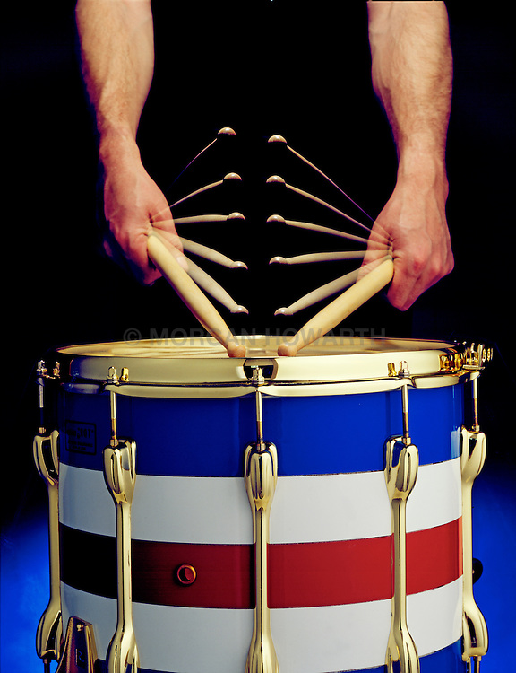 hands drumming red white and blue marching drum American Flag American flag, red,white,blue