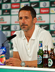 01.07.2015, Weserstadion, Bremen, GER, 1. FBL, SV Werder Bremen, Trainingsauftakt, im Bild Thomas Eichin (Geschaeftsfuehrer Sport SV Werder Bremen) bei der Pressekonferenz // during a Trainingssession of German Bundesliga Club SV Werder Bremen at the Weserstadion in Bremen, Germany on 2015/07/01. EXPA Pictures &copy; 2015, PhotoCredit: EXPA/ Andreas Gumz<br /> <br /> *****ATTENTION - OUT of GER*****