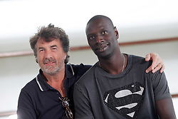 24.09.2011, Sebastian Donostia, ESP, 59. San Sebsatian Filmfestival, Zinemaldia, im Bild French actors Omar Sy (r) and Francois Cluzet during the 59th San Sebastian Donostia International Film Festival - Zinemaldia.September 24,2011.. EXPA Pictures © 2011, PhotoCredit: EXPA/ Alterphoto/ Acero +++++ ATTENTION - OUT OF SPAIN/(ESP) +++++
