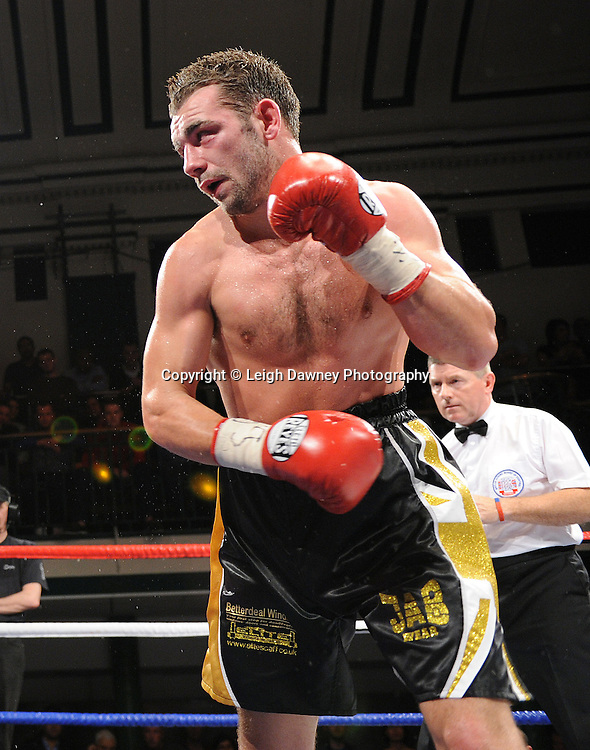 Colin Lynes defeats Lee Purdy (pictured) for the British Welterweight Title at York Hall 09.11.11. Matchroom Sport. Photo credit: © Leigh Dawney 2011.