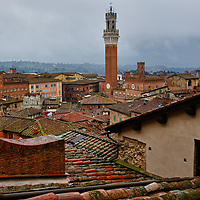 """SIENA, ITALY - APRIL 05:  A general view of the city of Siena from the Duomo roof seen during the press preview of  """"La Porta del Cielo"""" on April 5, 2013 in Siena, Italy. The newly launched """"Door to Heaven"""" from April 6th will allow visitors to  enjoy a spectacular new view of the Duomo and the city of Siena (Photo by Marco Secchi/Getty Images)"""
