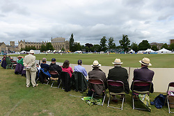 Spectators look on during the Cheltenham Festival as Gloucestershire play Northamptonshire Cricket - Photo mandatory by-line: Dougie Allward/JMP - Mobile: 07966 386802 - 08/07/2015 - SPORT - Cricket - Cheltenham - Cheltenham College - LV=County Championship 2