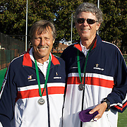 Jimmy Parker, USA, (left) and Ken Robinson, USA, Runners up, 65 Mens doubles competition during the 2009 ITF Super-Seniors World Team and Individual Championships at Perth, Western Australia, between 2-15th November, 2009
