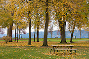 Idaho, Coeur d' Alene. Coeur d'Alene city park in autumn. Coeur D Alene, Idaho, USA . PLEASE CONTACT US FOR DIGITAL DOWNLOAD AND PRICING.