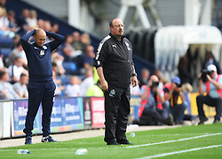 Preston North End manager Alex Neil (L) and Newcastle United manager Rafa Benitez - Mandatory by-line: Jack Phillips/JMP - 22/07/2017 - FOOTBALL - Deepdale - Preston, England - Preston North End v Newcastle United - Pre-Season Club Friendly