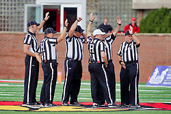 NORMAL, IL - October 06:  during a college football game between the ISU (Illinois State University) Redbirds and the Western Illinois Leathernecks on October 06 2018 at Hancock Stadium in Normal, IL. (Photo by Alan Look)