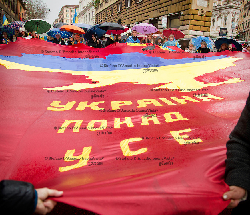 Manifestazione a Roma contro la guerra in Ucraina.<br />