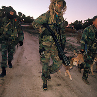 Bob Maupin (r) patrols his ranch, at dusk in eastern San Diego, for  illegal aliens. Maupin  formed his own vigilante patrol to deal with the onslaught of illegal aliens entering the area to avoid Operation Gatekeeper. Please contact Todd Bigelow directly with your licensing requests. PLEASE CONTACT TODD BIGELOW DIRECTLY WITH YOUR LICENSING REQUEST. THANK YOU!