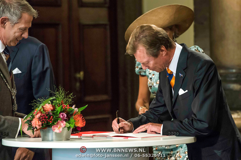 NLD/Maastricht/20140830 - Festivities on the occasion of the 200th jubilee of the Kingdom of the Netherlands in Maastricht - 200 Jaar Koninkrijk der Nederlanden, King Willem-Alexander, Queen Máxima and King Philippe van België