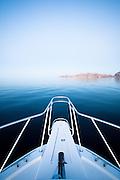 boat bow at dusk
