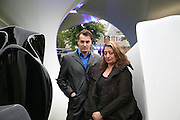 Zaha Hadid and Patrick Schumacher, Serpentine Gallery. Lilas an installation by Zaha Hadid architects. 11 July 2007.  -DO NOT ARCHIVE-© Copyright Photograph by Dafydd Jones. 248 Clapham Rd. London SW9 0PZ. Tel 0207 820 0771. www.dafjones.com.